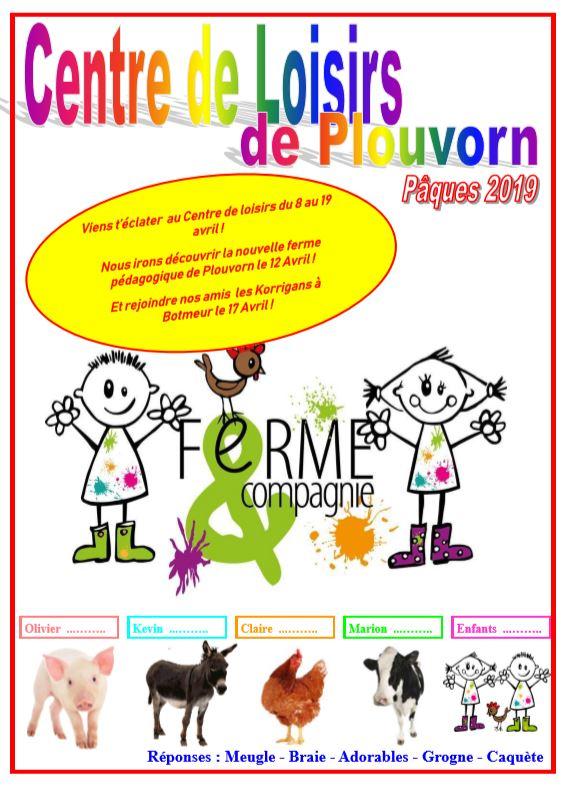 Programme Centre Aéré Vacances De Pâques