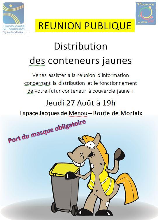 Réunion Publique Conteneurs Jaunes